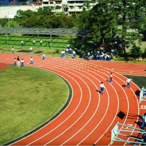 Synthetic jogging track rubber flooring chinese supplier