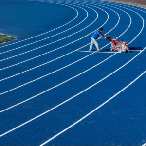 Prefabricated rubber running track surface China manufacturer