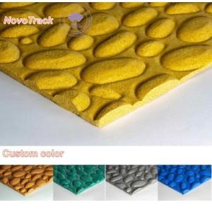 Jogging track rubber flooring cobblestone texture grains surfaces for city parks