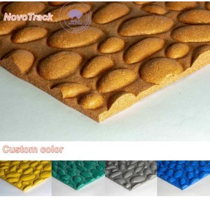Different types of track surfaces cobblestone texture grains surfacse