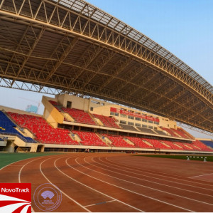 Customized rubber running track surface and athletics track supplier