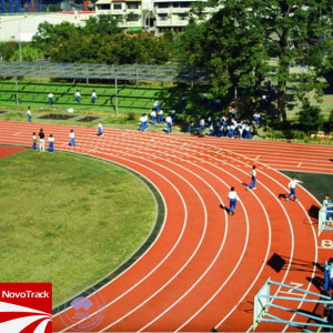 Synthetic jogging running track rubber flooring synthetic running track surface