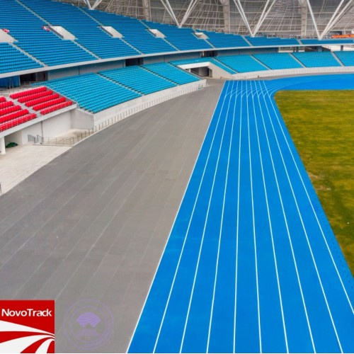 Rolldown Runway synthetic surfaces for outdoor sports areas with IAAF certification