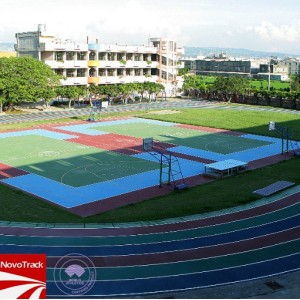 Prefabricated sport court flooring surface from Chinese Novotrack