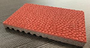 预制橡胶跑道表面(红色)