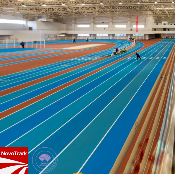 Indoor athletics track prefabricated surface vulcanized rubber running track surfaces