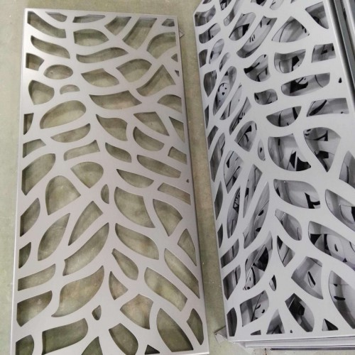 Carved hollow aluminum plate series