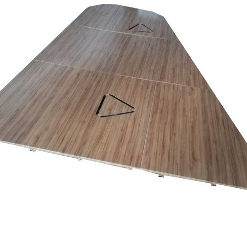 Surface treatment of wood grain transfer printing aluminum veneer