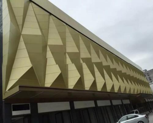 PVDF painting aluminium wall panels exterior cladding
