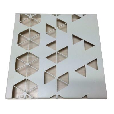 Fluorocarbon laser cut aluminum sheet
