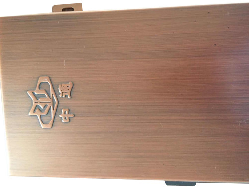 red copper brassed aluminum solid panel