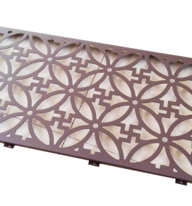 High Strength Laser Cut Decorative Aluminum Mesh Screen For Window / Wall
