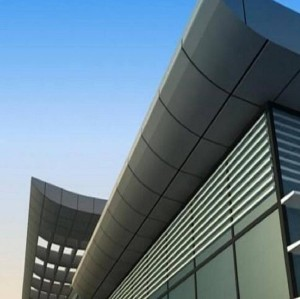 Exterior Building Facade Aluminium Curtain Wall Perforated Aluminum Solid Panel