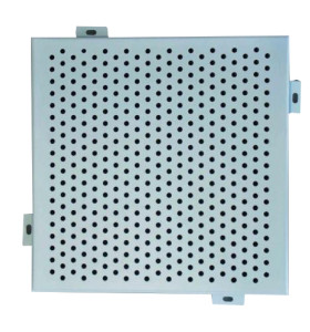 Anti - Corrosion Aluminium Perforated Panel , Custom Exterior Wall Cladding