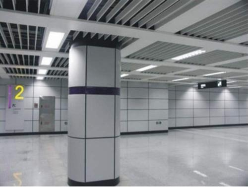 Powder Coated Fireproof Aluminum Column Covers For Exterior Wall Cladding