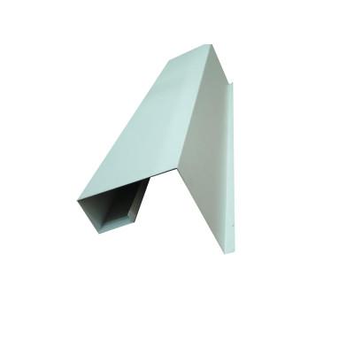 Open Design Aluminum Baffle Ceiling / Decorative Waterproof Wood Planks Grain Look Drop Ceiling Tiles