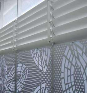Contemporary Decorative Metal Screen For Office Building Wall Cladding