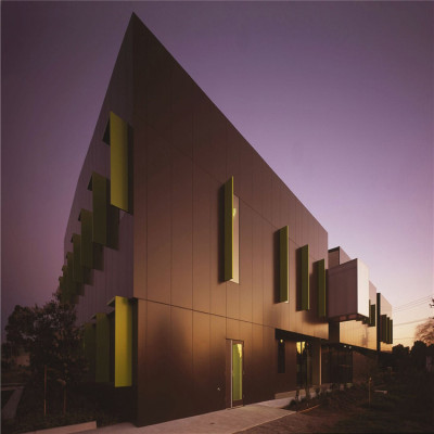 3 mm brown aluminium curtain wall panels for waterproofing buildings