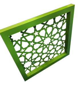 green aluminum perforated carved panel curtain wall for building cladding