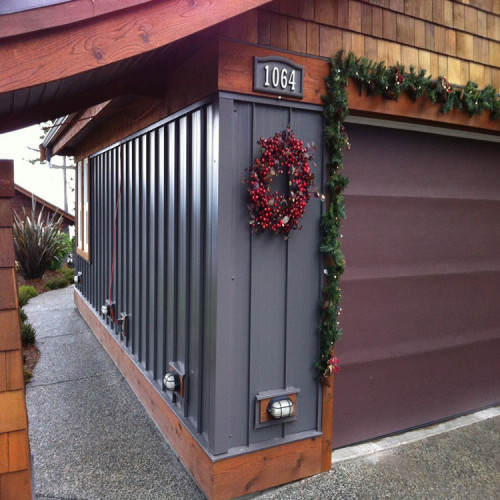 structural painting wood grain exterior aluminium wall panel