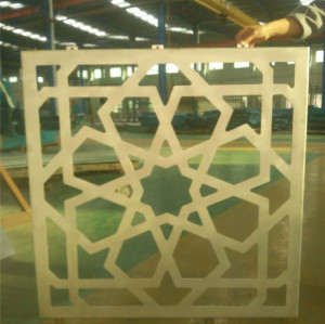 Outdoor wall decoration with 3.0mm laser cutting aluminum plate