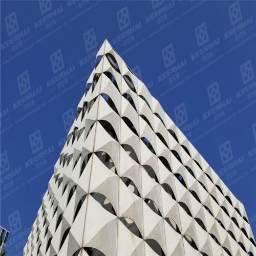 Aluminum 3D Wall Decorative Unitized Skyscraper Curtain Wall Facade Cladding Exterior & Interior Wall Panel