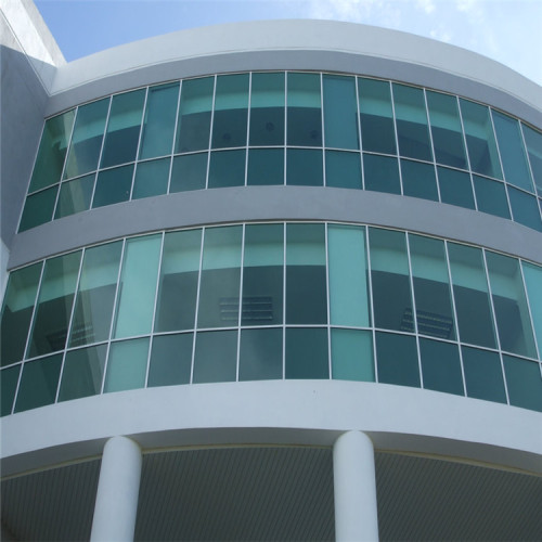 customized shaped piercing aluminum panel silver gray metal texture plate on hotel exterior facade wall