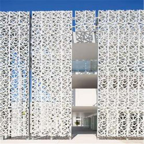curtain wall plan fluorocarbon coating aluminum punching veneer