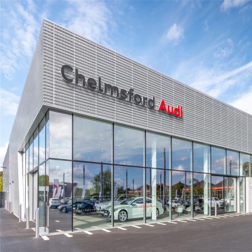 Wall Cladding Decorative Metal Aluminum Mesh for Audi Terminal Facades