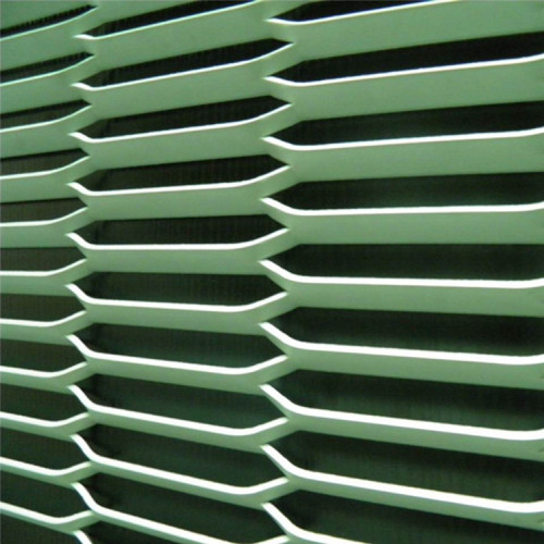 Aluminum expanded metal mesh wall cladding fixing system