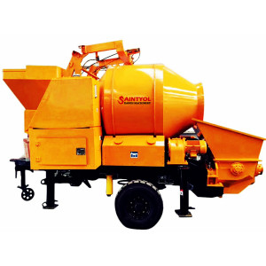 DJBT40-11-56 Trailer Mobile Diesel Concrete Mixing Pump, Concrete Mixer with Pump
