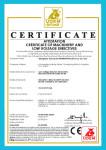 CE certificates for HBT DHBT series Concrete Pump