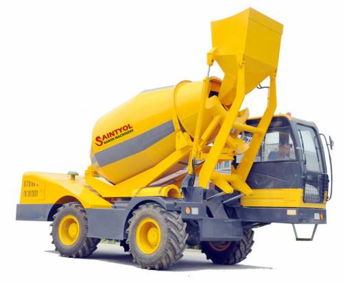 3.5m3 Automatic Self-loading Concrete Mixer Truck