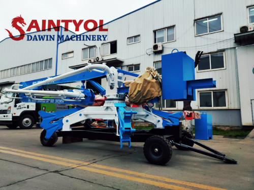 15m Trailer Mobile Spider Hydraulic Concrete Placing Boom