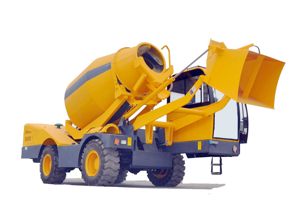2.0 cubic meter automatic self loading concrete mixer truck