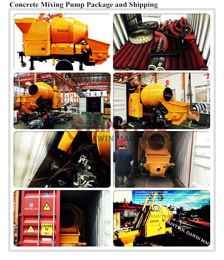 concrete mixer pump concrete mixing pump
