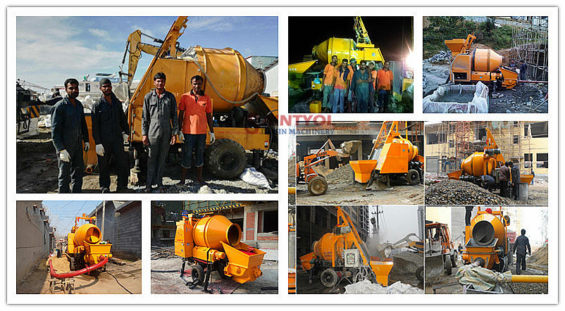 concrete pump with mixer job site performance