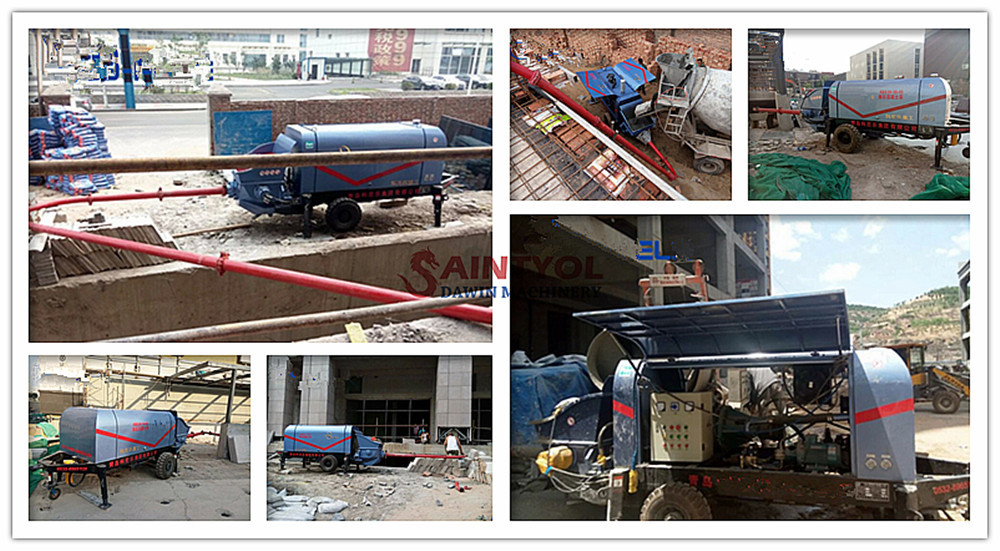 pumping concrete pump job site performance