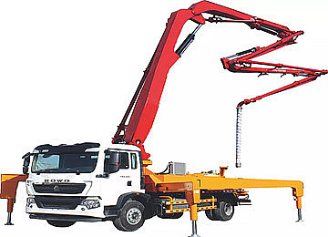 placing boom concrete pump truck