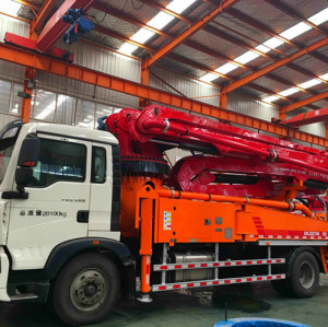 37m 5RZ Concrete Boom Pump Truck With Customized Chassis