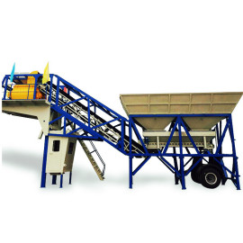 25 m³/h 35m3/hr 75m3/hr Mobile Concrete Batching Plant