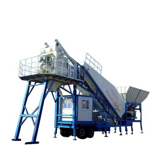 25 m³/h 35m3/hr 75m3/hr Mobile Concrete Batching Plant