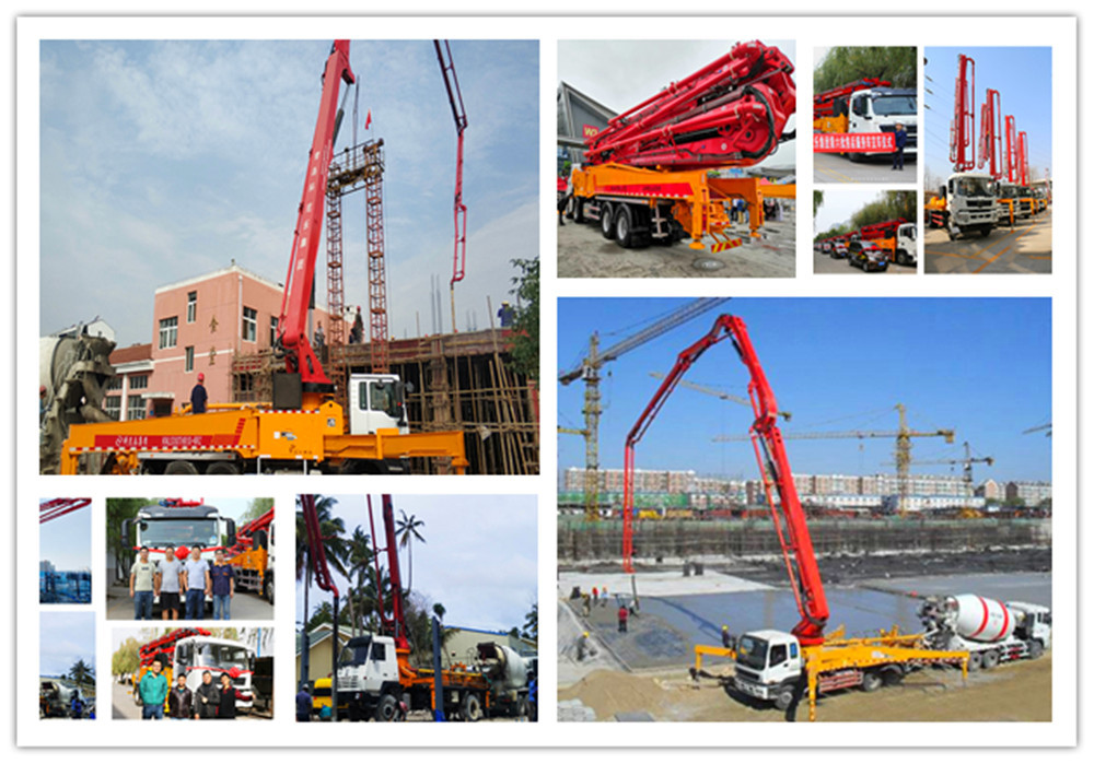 placing boom concrete pump truck job performance