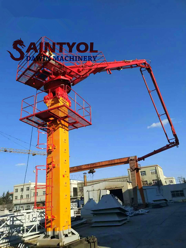 tower self climbing concrete placing boom