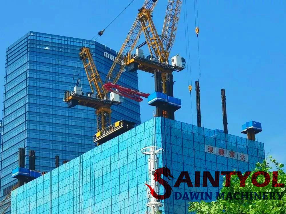 high building construction concrete placing boom