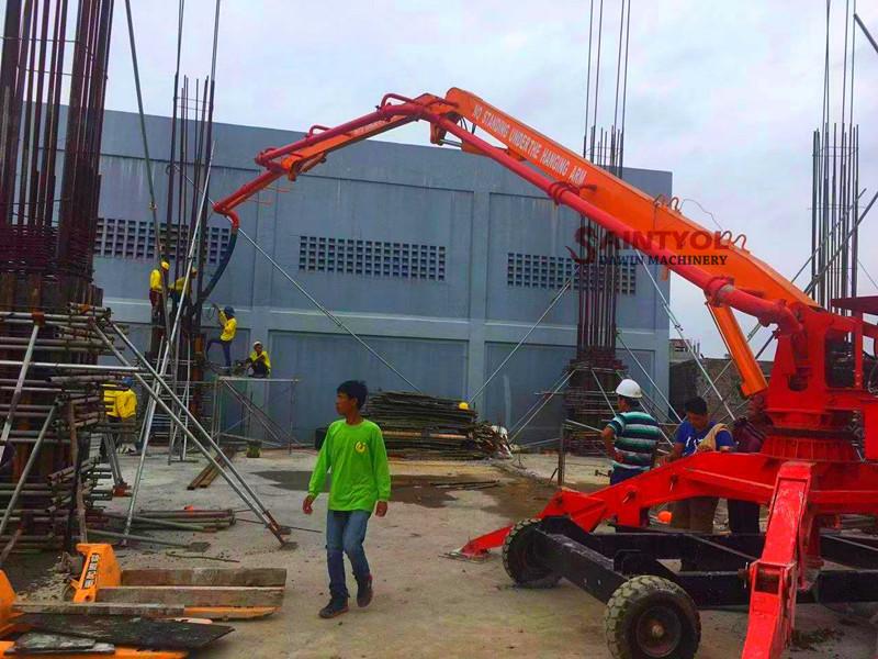 mobile spider concrete placing boom factory price