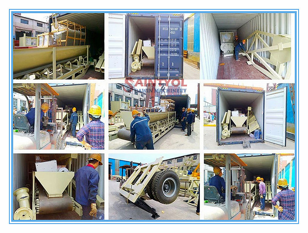 concrete batching plant package and shipping