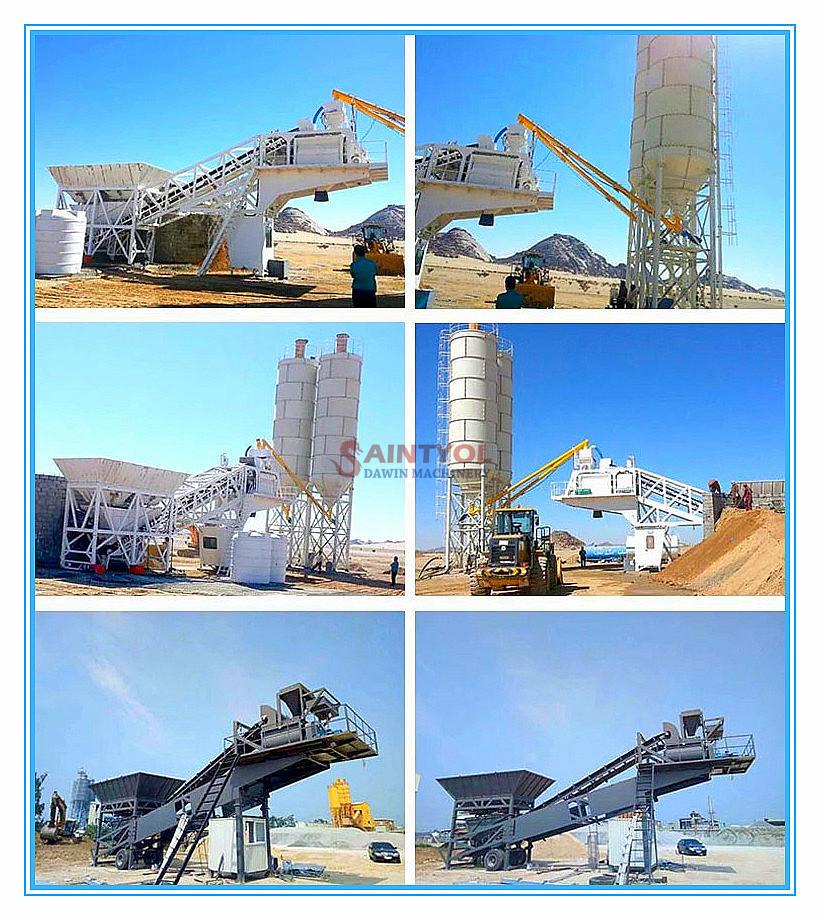 mobile concrete batching plant job site performance