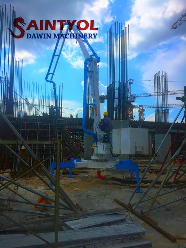 spider hydraulic concrete placing boom