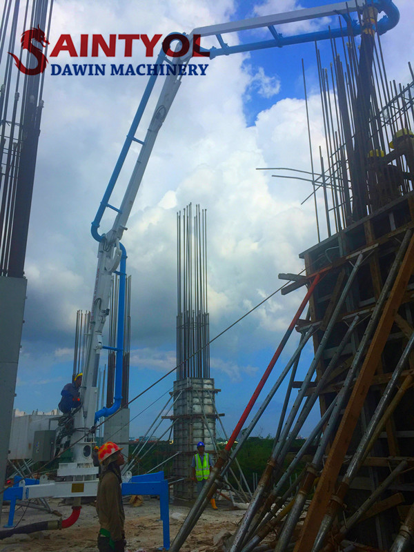 hydraulic spider concrete placing boom